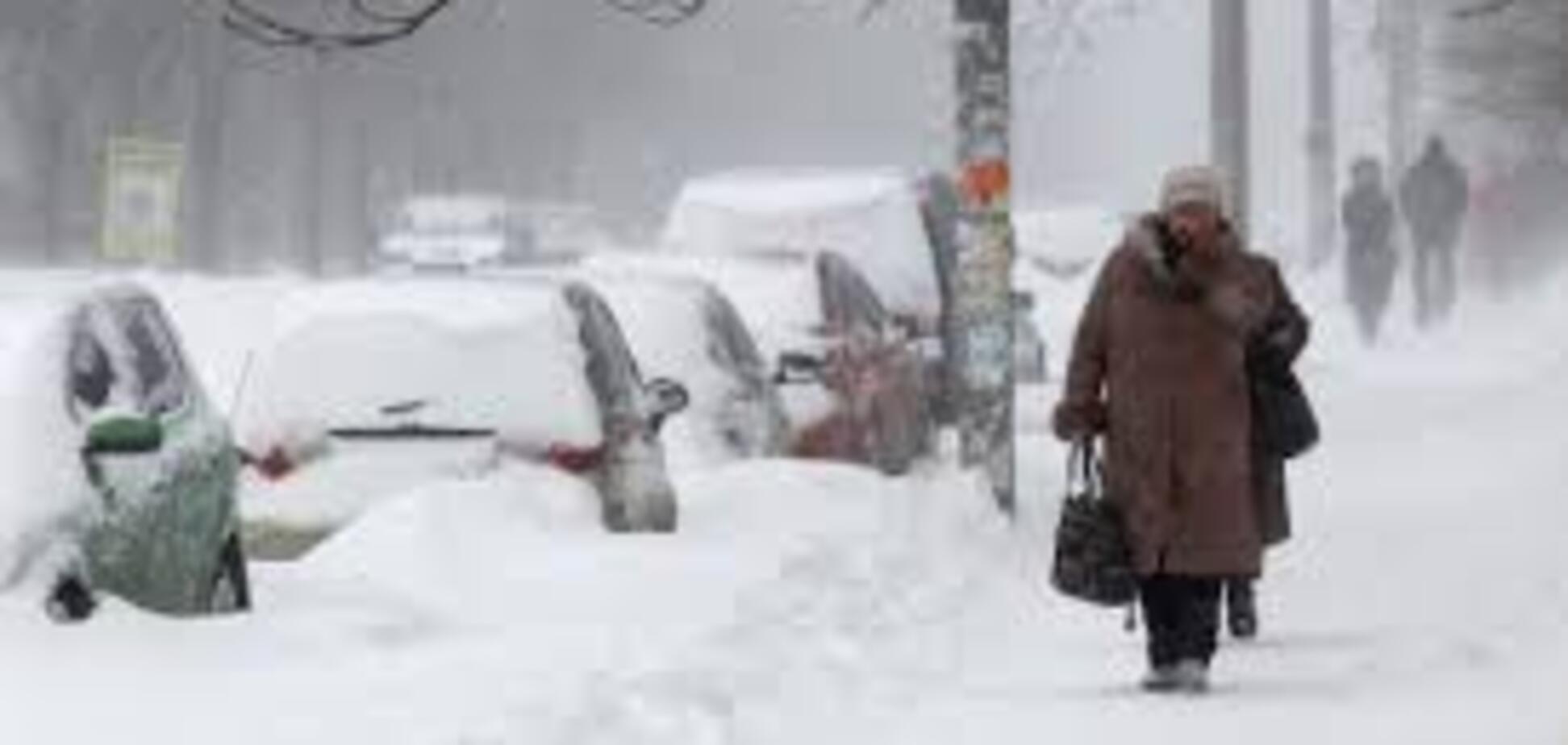 Снігопад в Україні