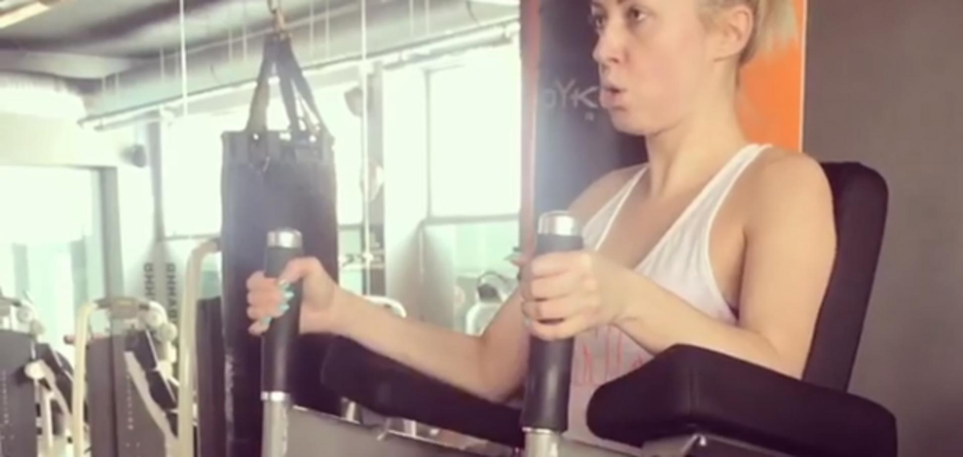 Тоня Матвиенко показала, что вытворяет в спортзале