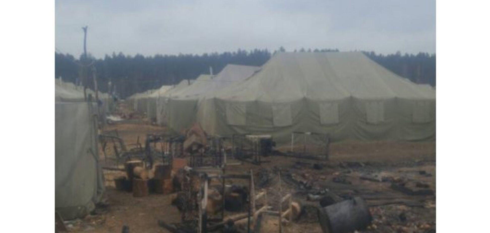 Сгорело дотла: на Черниговщине произошел пожар в воинской части. Появились фото