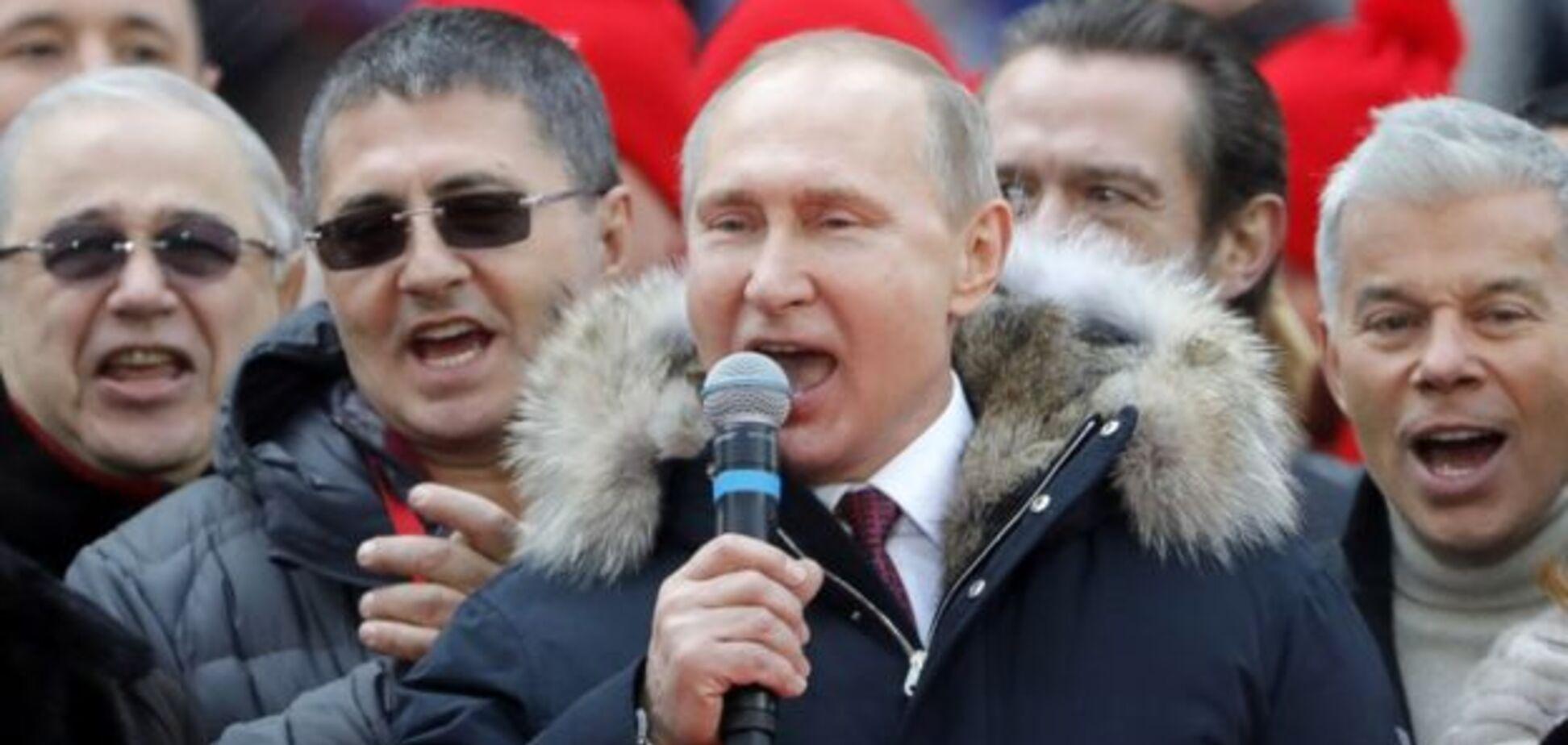 Блогер вказав на дивину з ростом Путіна під час мітингу