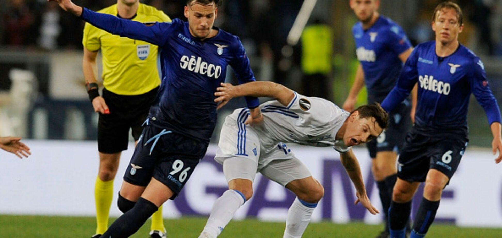 'Динамо' вырвало ничью с 'Лацио' в первом матче 1/8 финала Лиги Европы