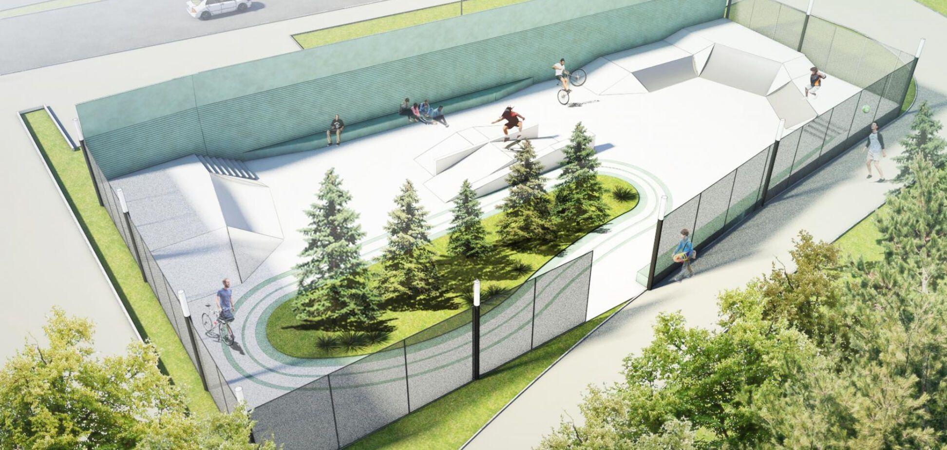 В Киеве появится скейт-парк: эскиз проекта