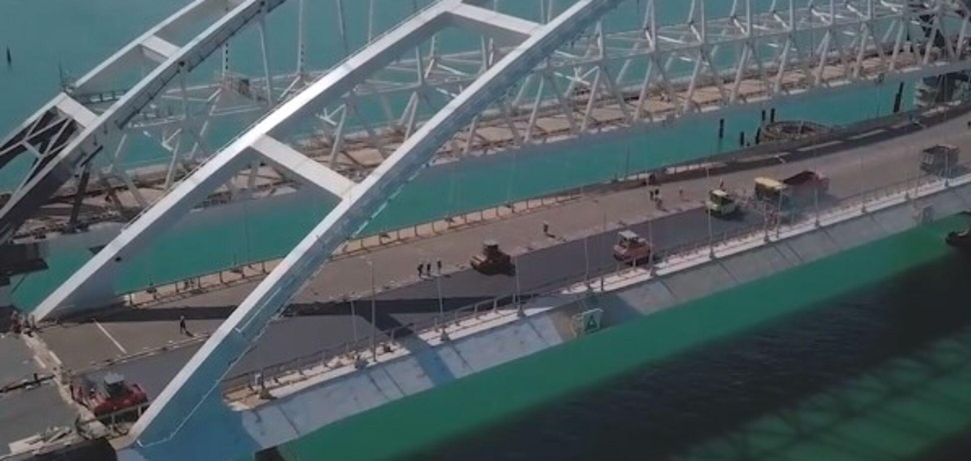 'Виконано на 75%': окупанти похвалилися успіхами Керченського мосту