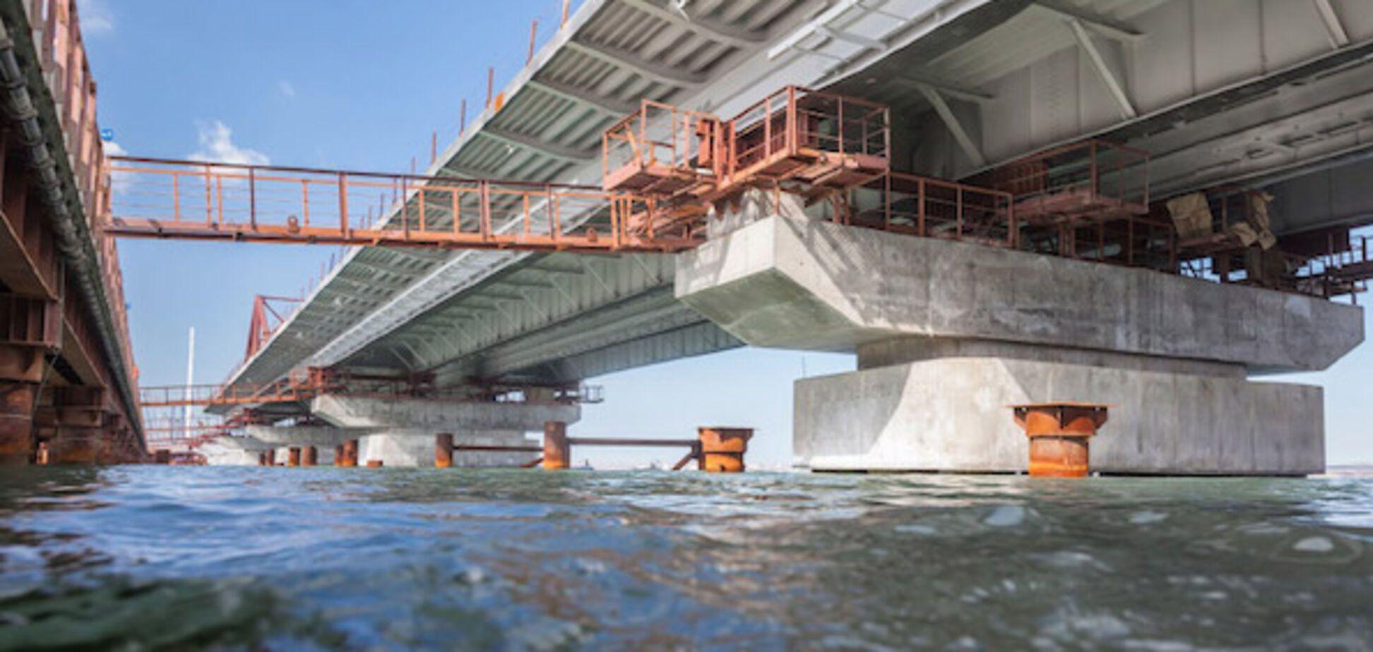Оккупанты поспешили нарисовать на картах недостроенный Крымский мост