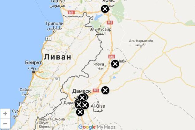 Удари по Сирії