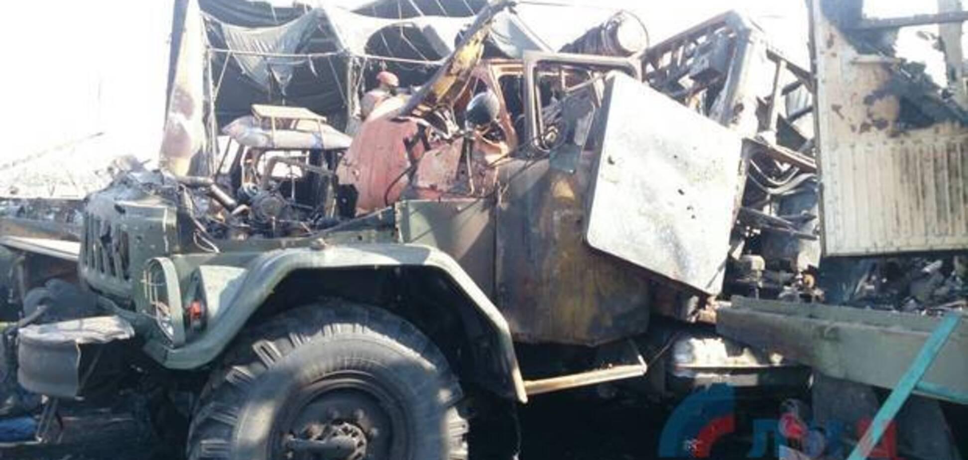 Під Луганськом злетіла в повітря армада техніки терористів