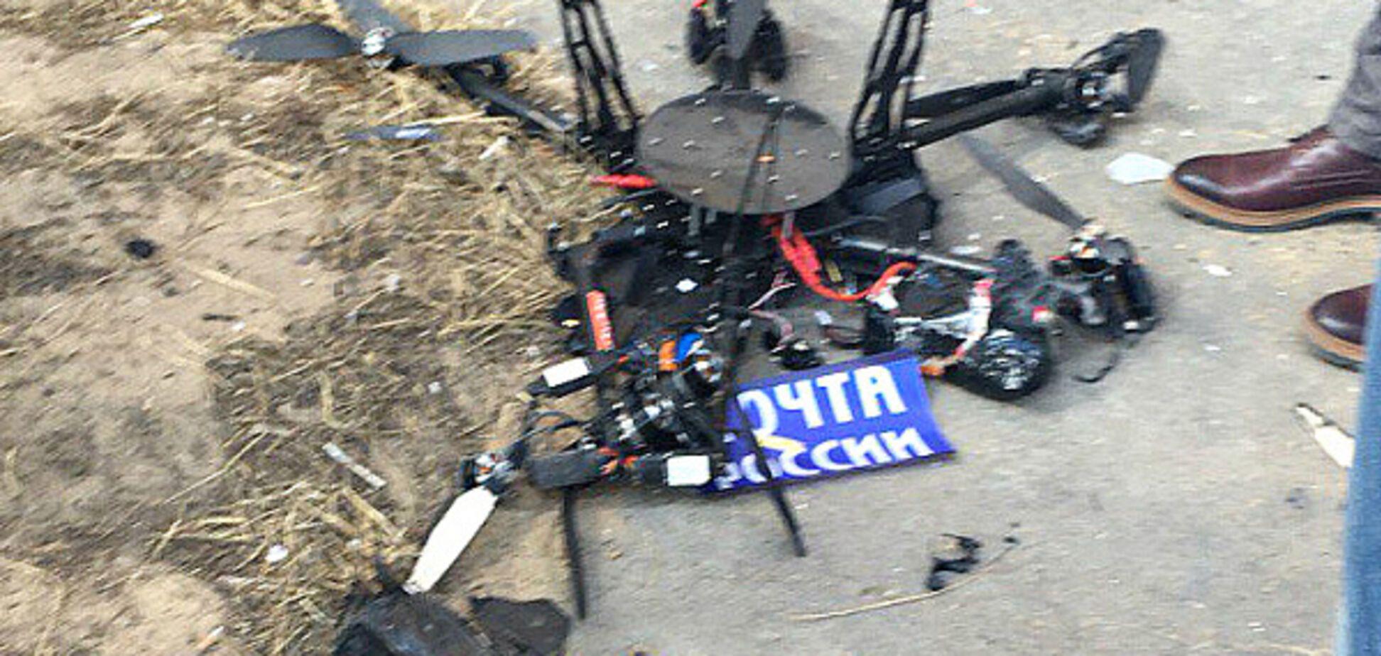 'Хочется плакать': как соцсети высмеяли эпичное падение дрона 'Почты России'