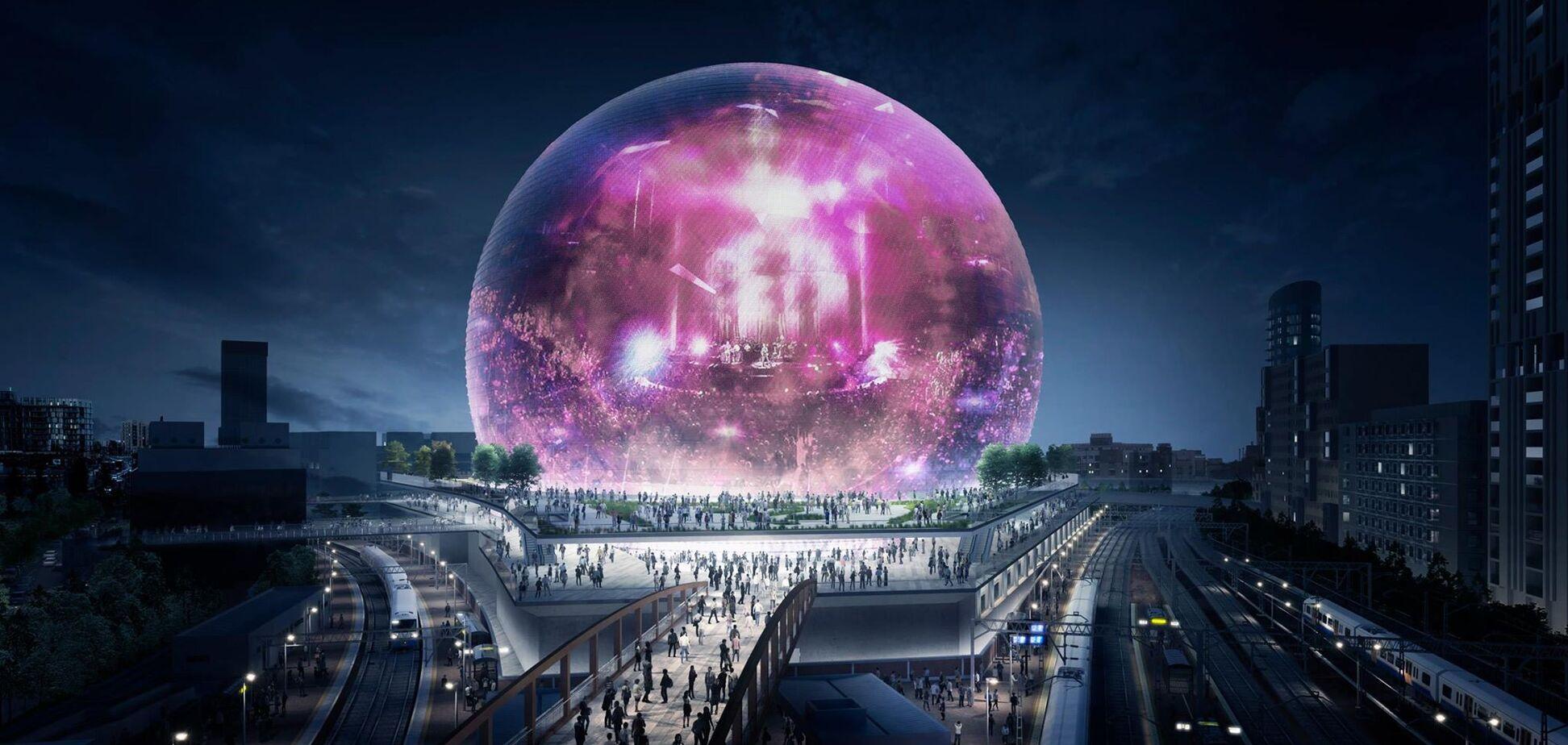 Эффект погружения: в Лондоне построят арену в виде сферы