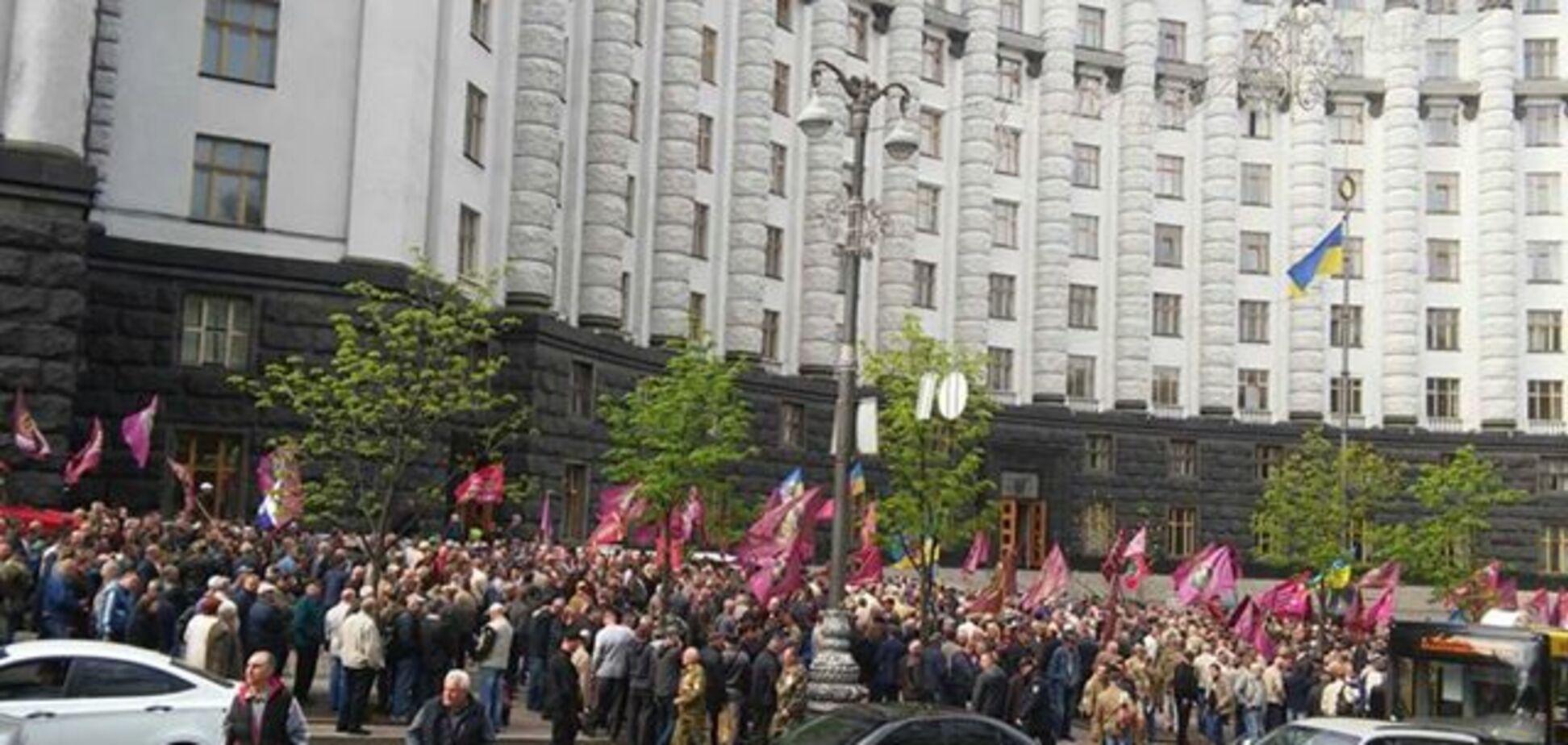Біля Кабміну 25.04.2018 протестуючі перекрили вулицю