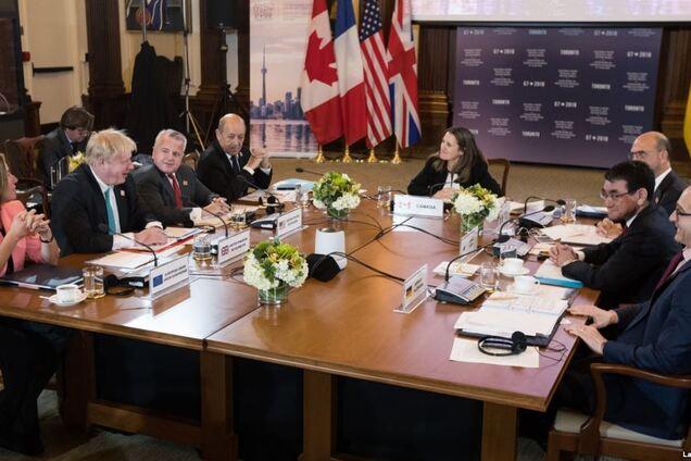 """Встреча глав МИД стран """"Большой семерки"""". Торонто, 22 апреля 2018 года"""