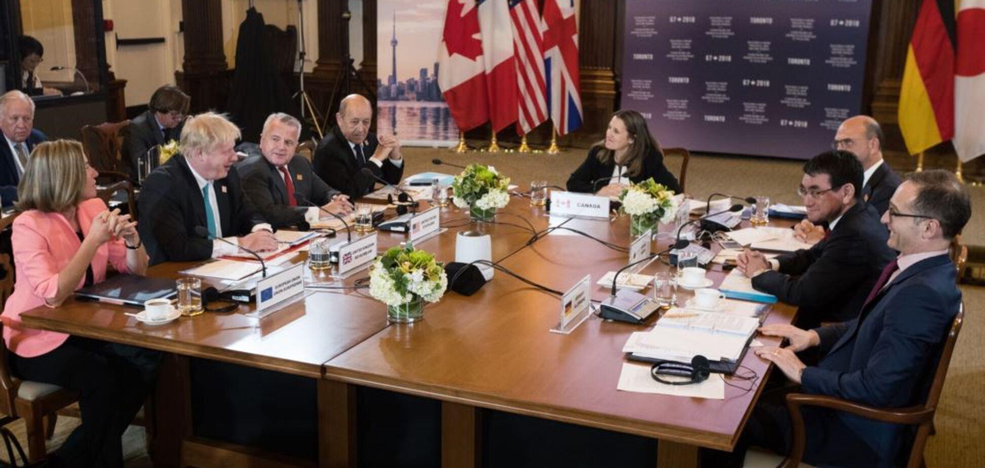 Зустріч глав МЗС країн «Великої сімки». Торонто, 22 квітня 2018 року
