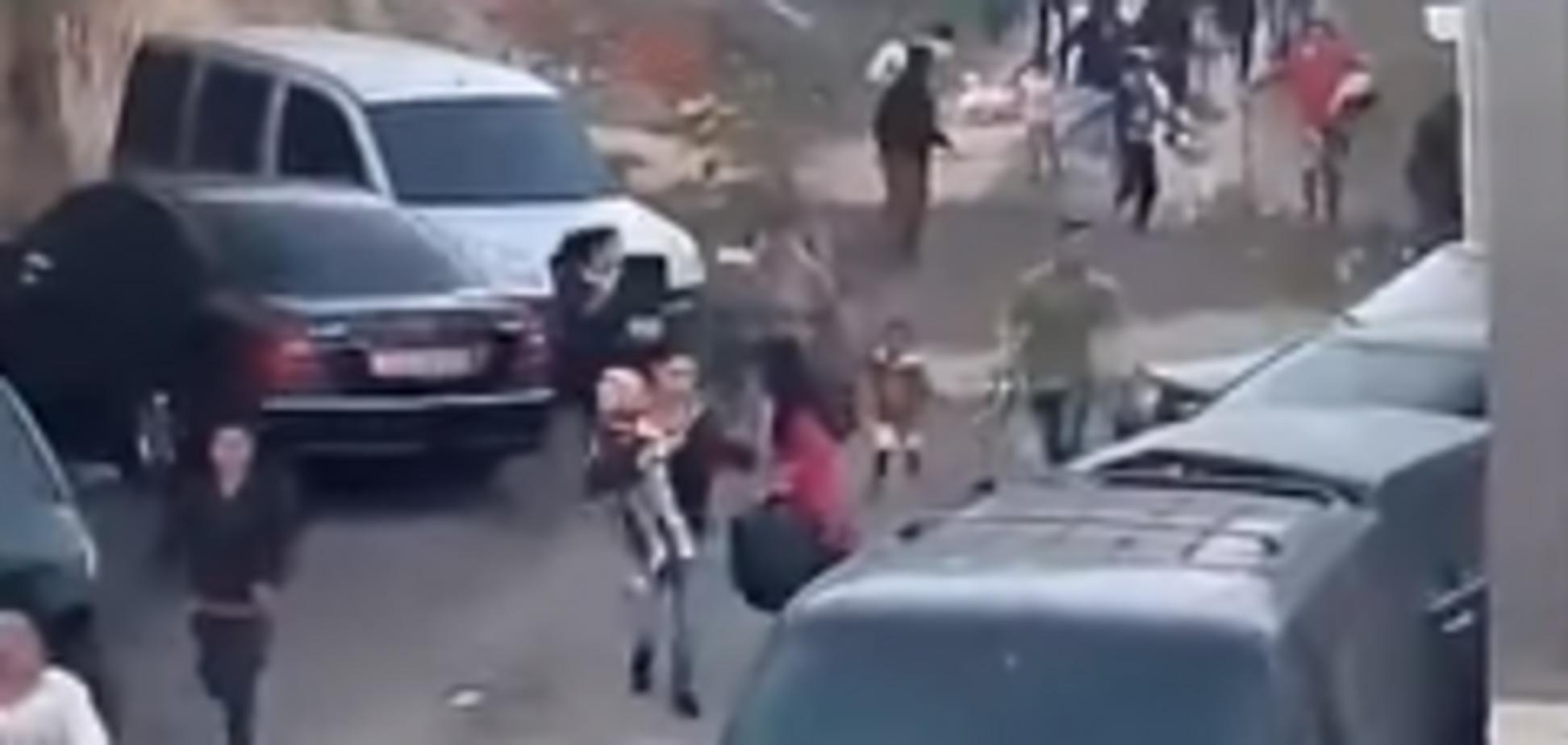 Разгон ромов на Лысой горе в Киеве: появилось новое видео