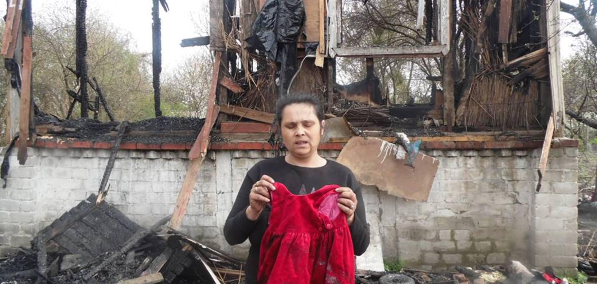 'Дети сгорели заживо': в Киеве ромы рассказали об уничтожении их домов
