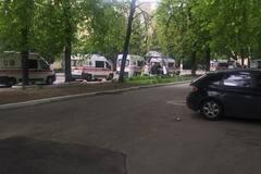 Сирени і мигалки: по Києву промчали 'швидкі' з бійцями АТО