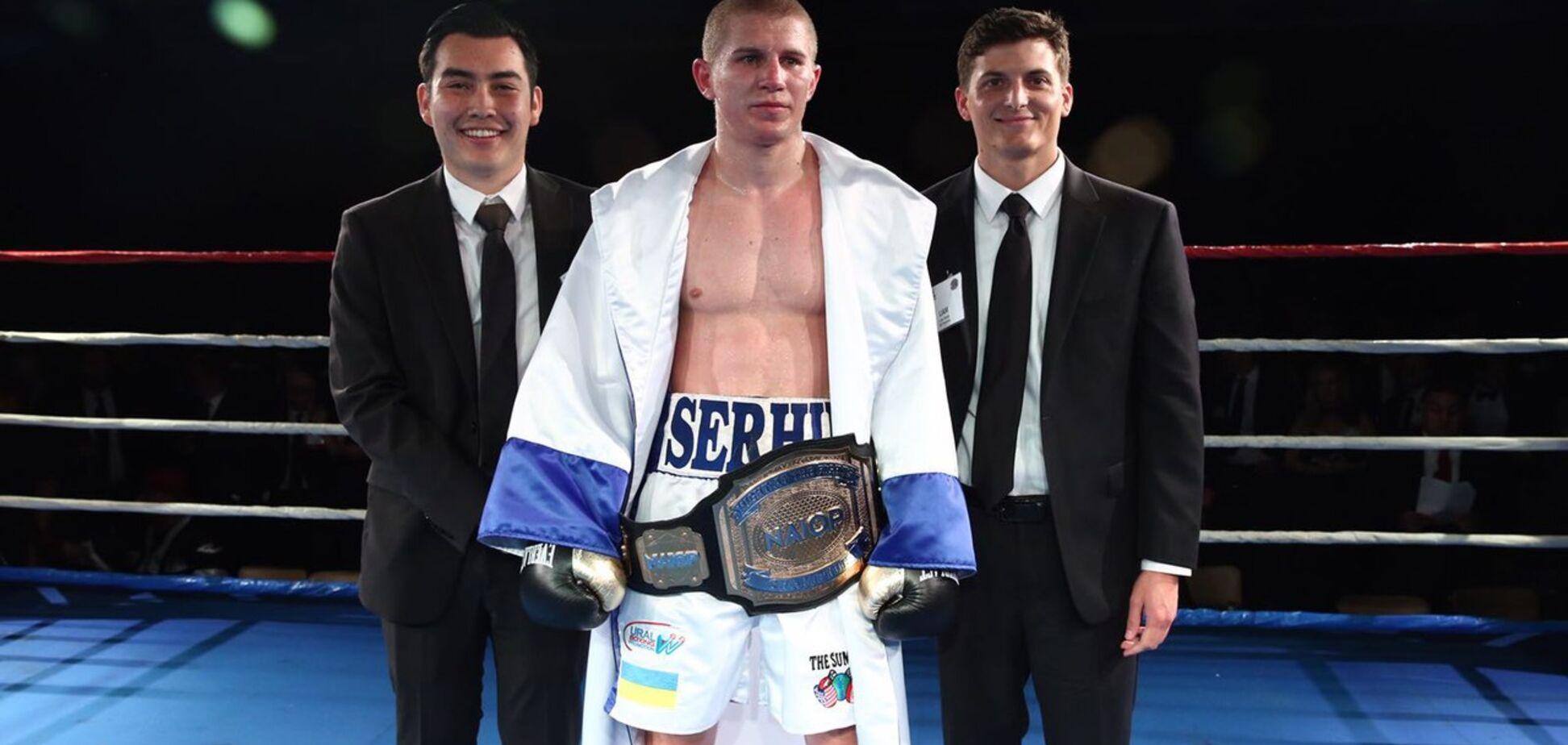 Небитый украинский боксер добыл победу нокаутом и завоевал пояс