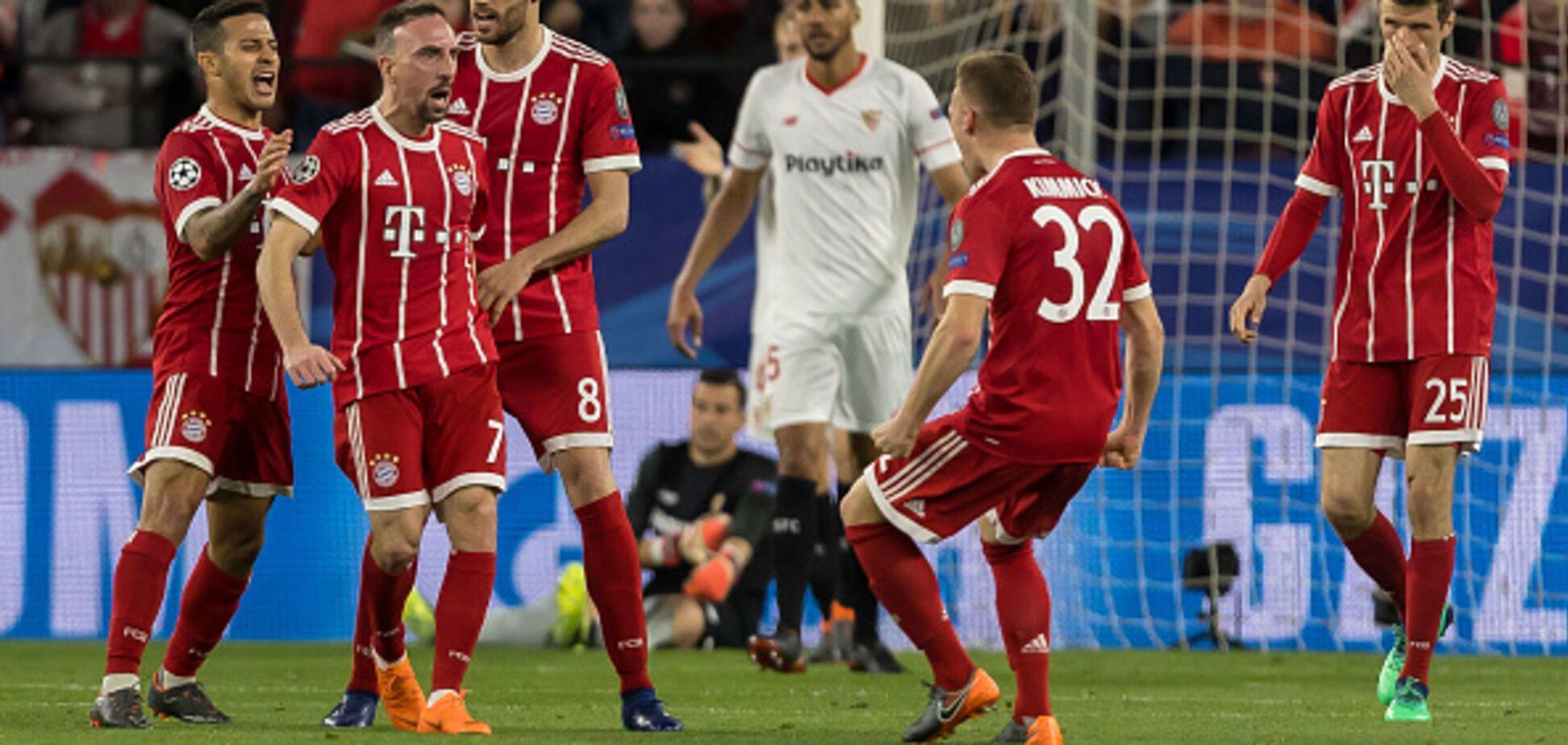 'Баварія' впевнено обіграла на виїзді 'Севілью' в 1/4 фіналу Ліги чемпіонів: відео голів