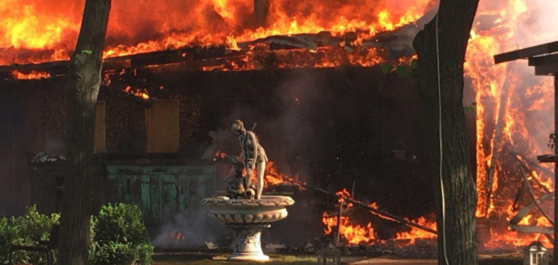 В парке Одессы вспыхнул мощный пожар: есть видео