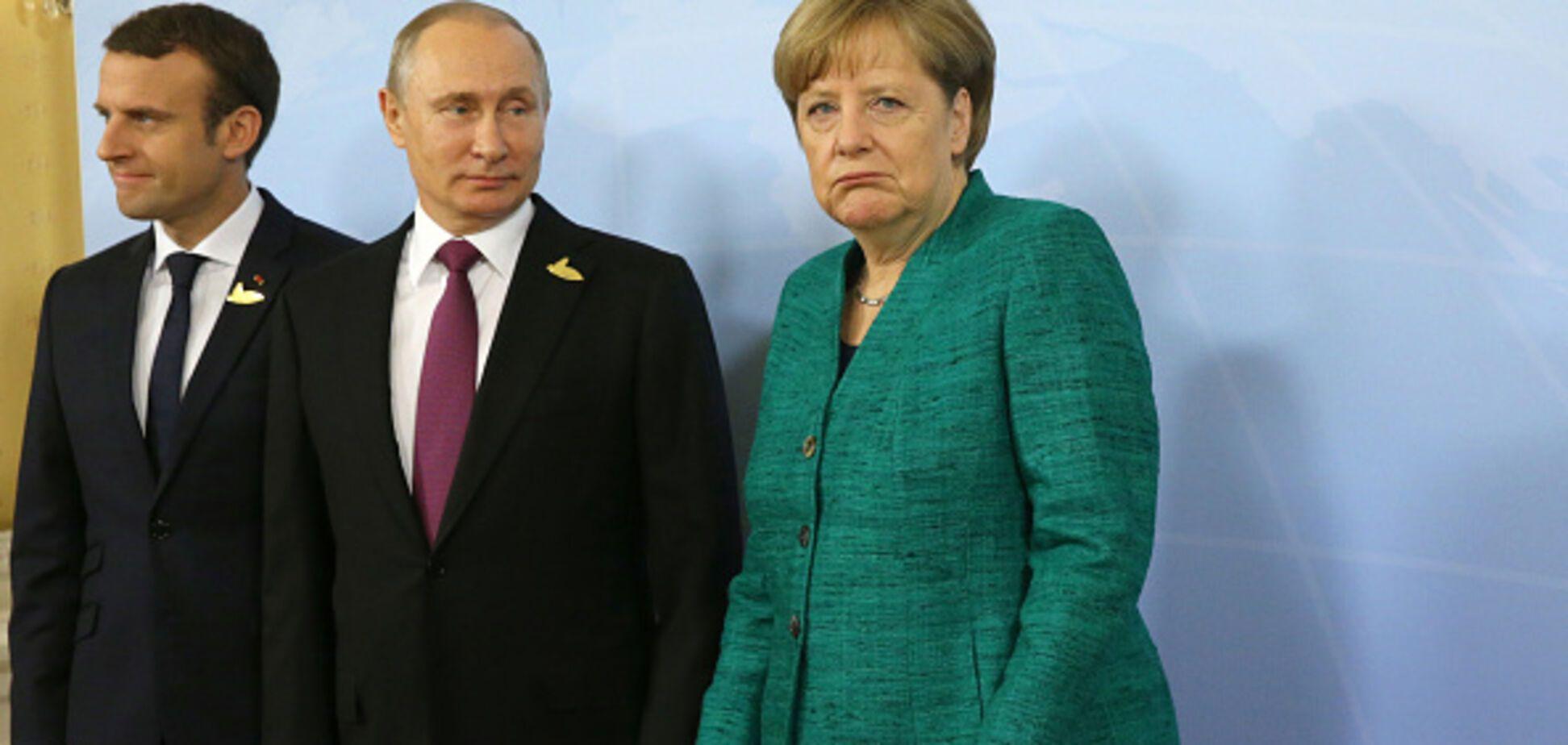 Макрон и Меркель после Порошенко поедут к Путину: чего ждать