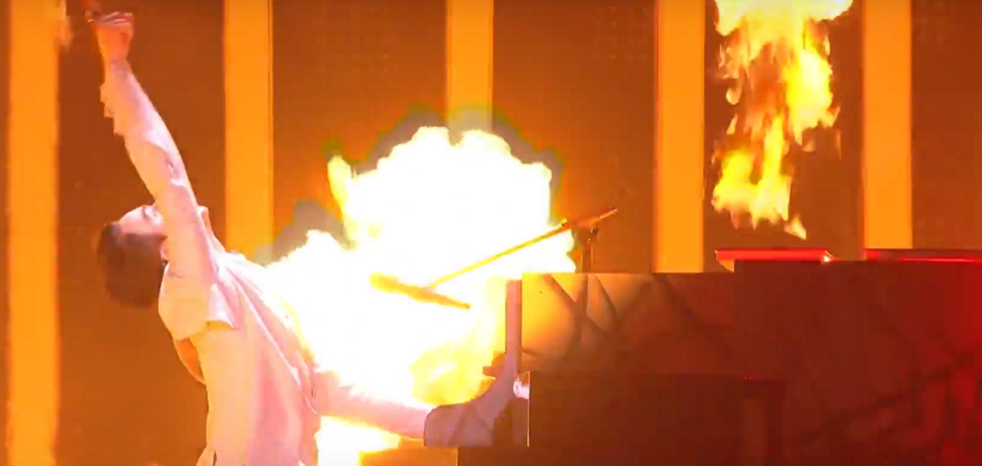 ''Топ, лучший!'' MELOVIN поразил огненным выступлением в финале ''Евровидения-2018''