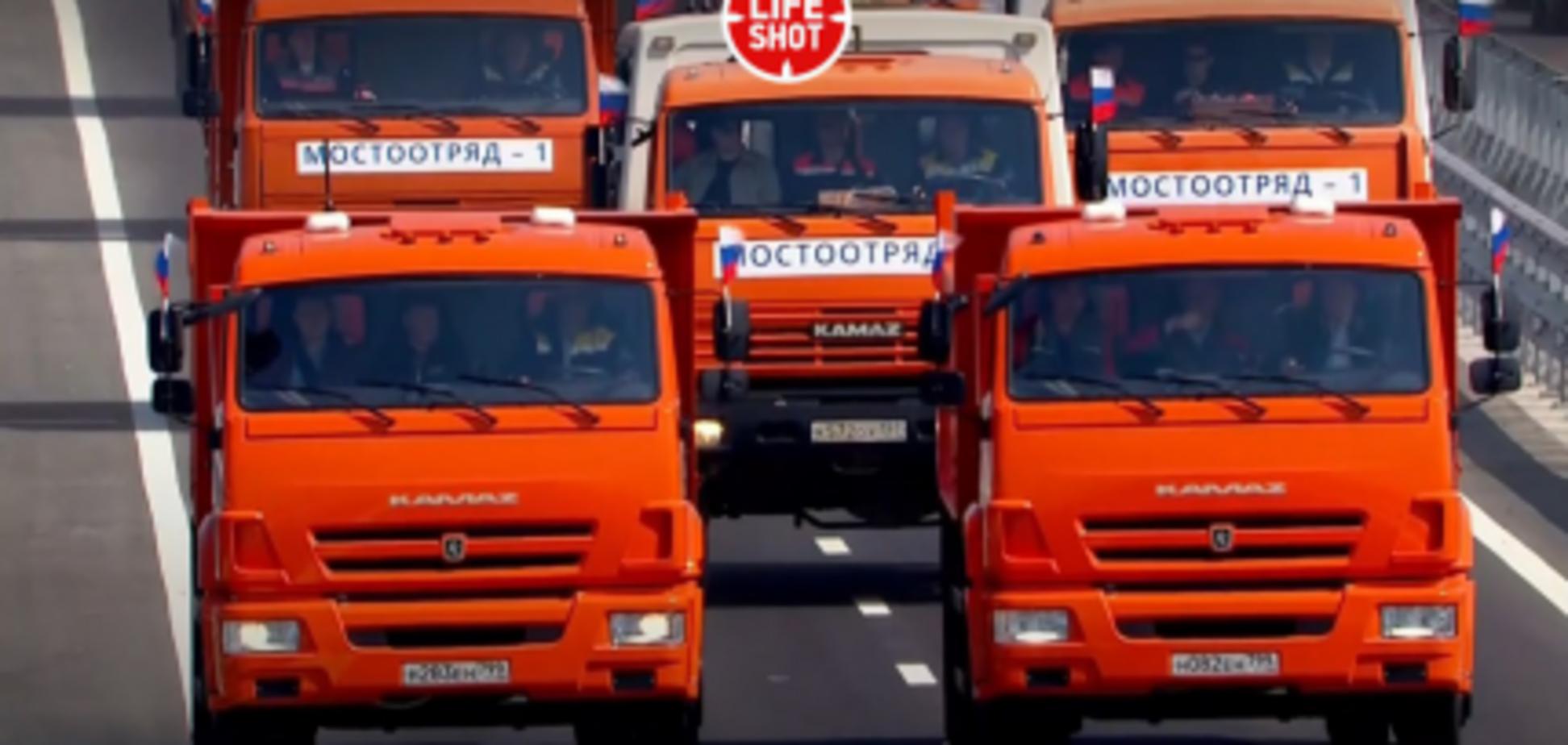 'Чуть не разрушил мост!' Путин за рулем КамАЗа рассмешил сеть