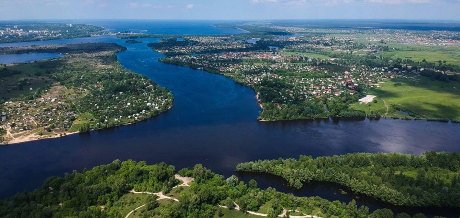 Зеленый остров в центре Киева: невероятные фото с высоты птичьего полета