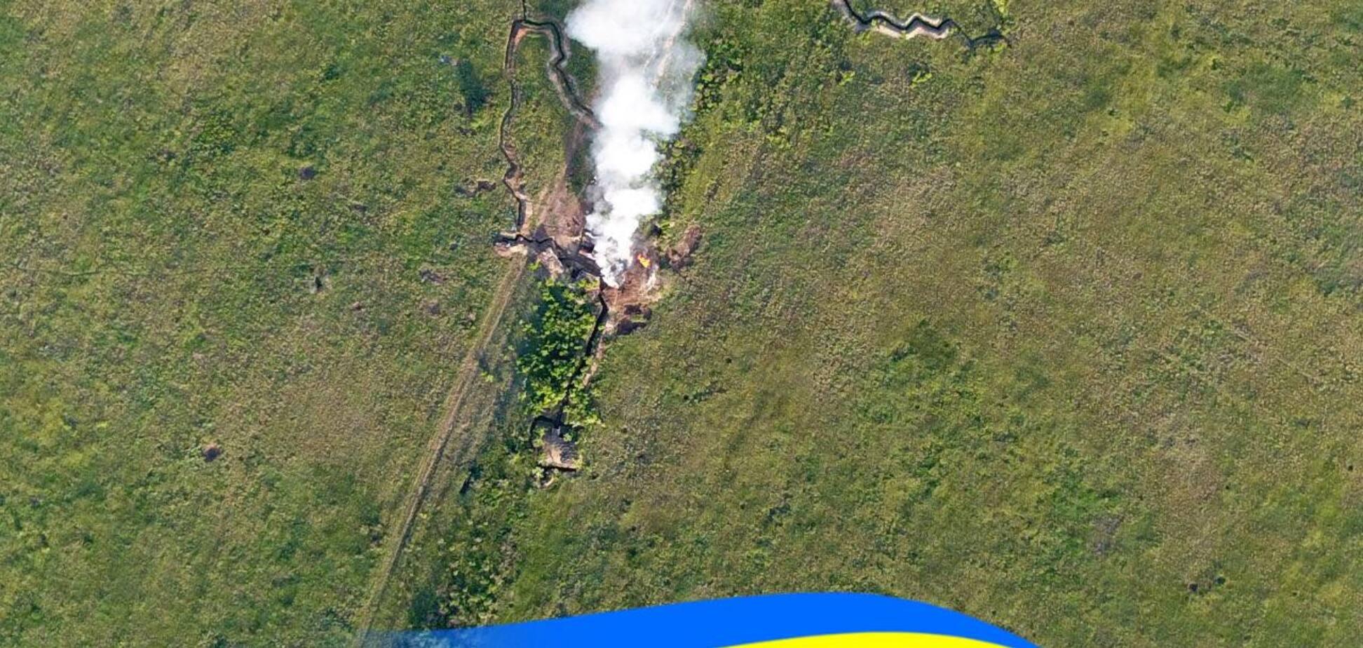 Вогонь і стовпи диму: українські військові розбили передову позицію терористів