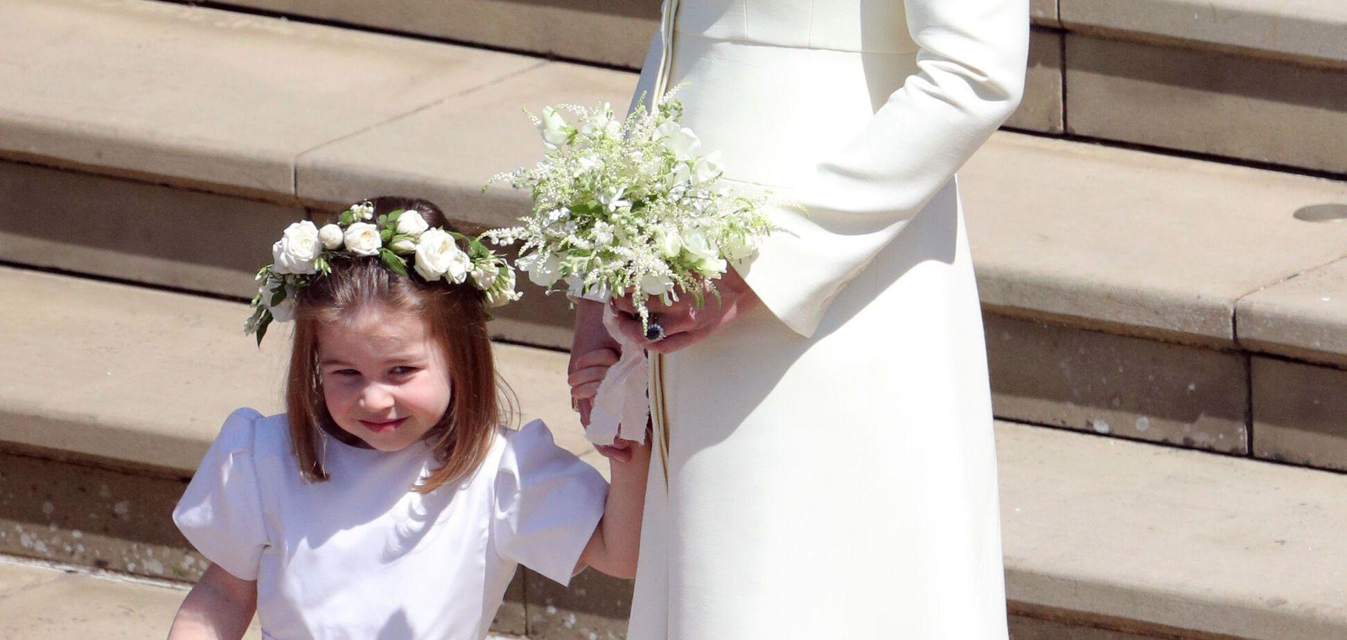 Кейт Миддлтон и принцесса Шарлотта восхитили нежными образами на свадьбе принца Гарри и Меган Маркл