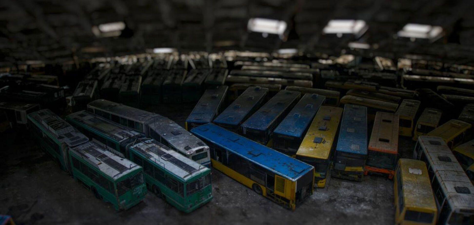 Автобусное 'кладбище' в Киеве: история и фото