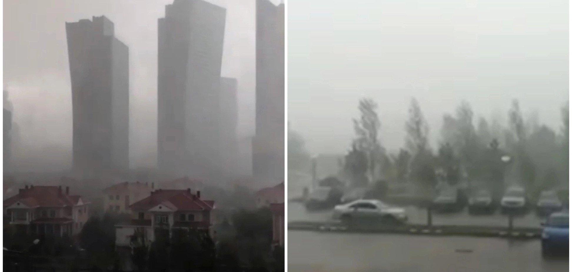 Апокаліпсис настає: в Астані розбушувався потужний ураган. Фото і відео