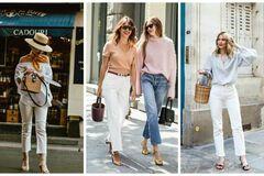 С чем носить самый модный хит лета - белые джинсы