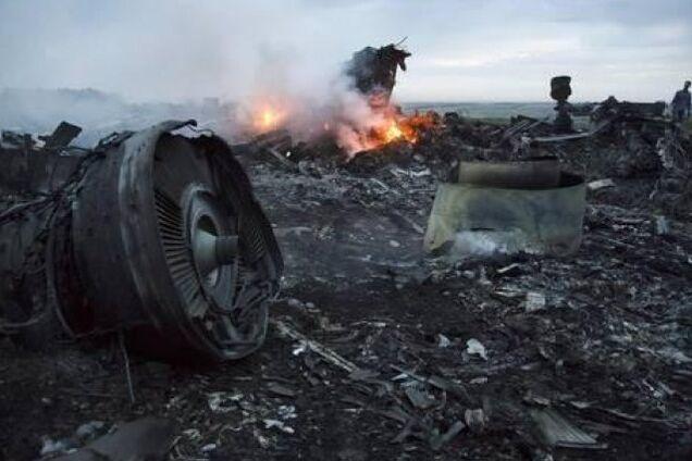 Место крушения МН17 на Донбассе