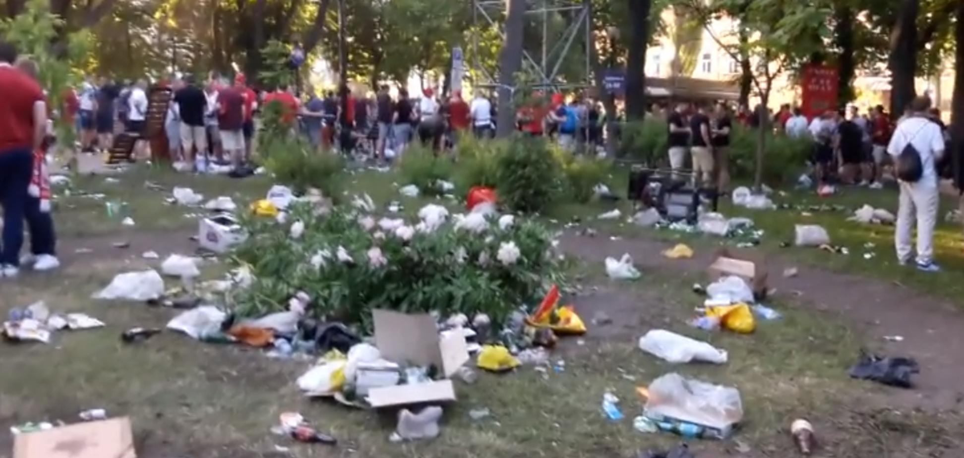 В сети показали, во что ливерпульцы превратили парк Шевченко