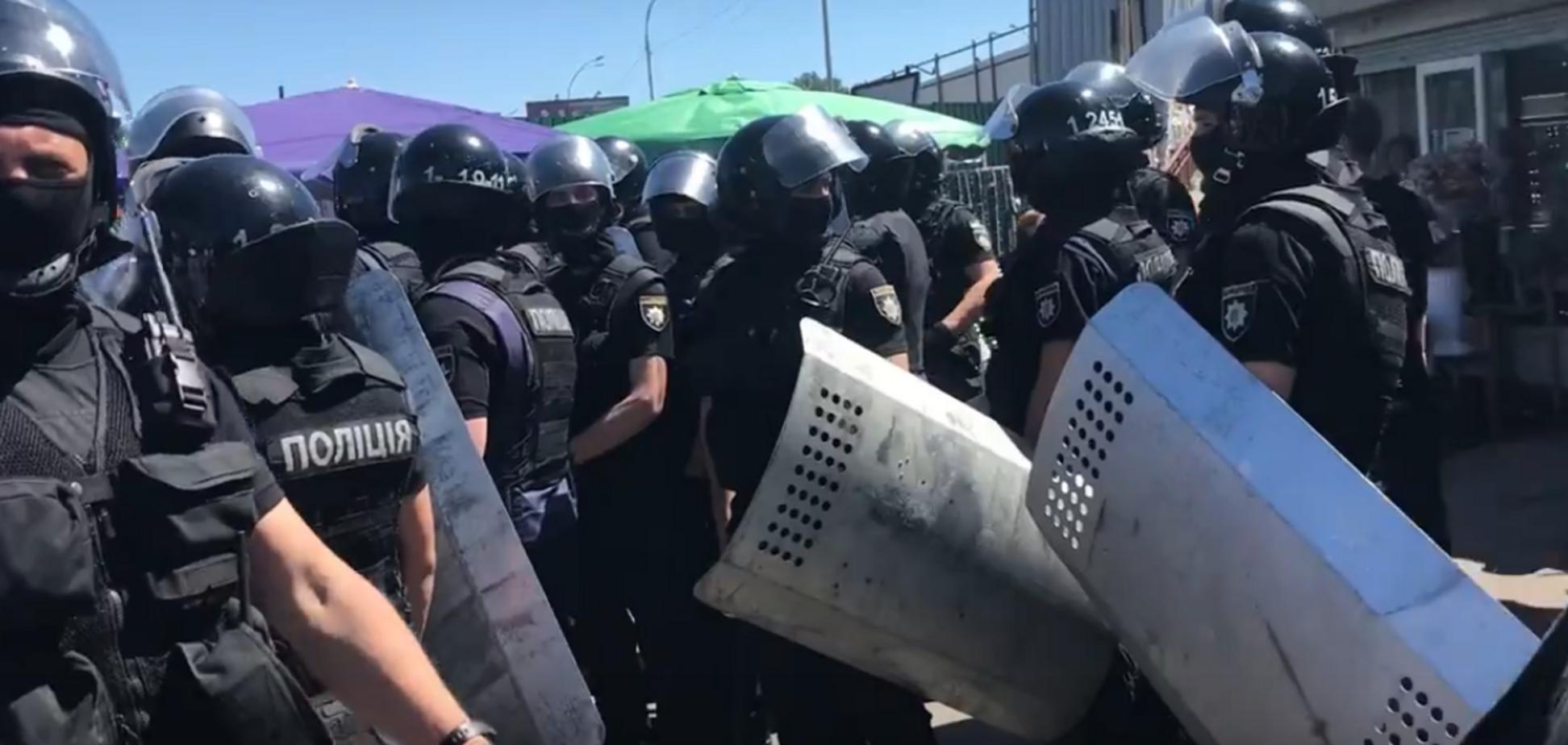 Погром у Києві: з'явилися перші відео з місця сутички