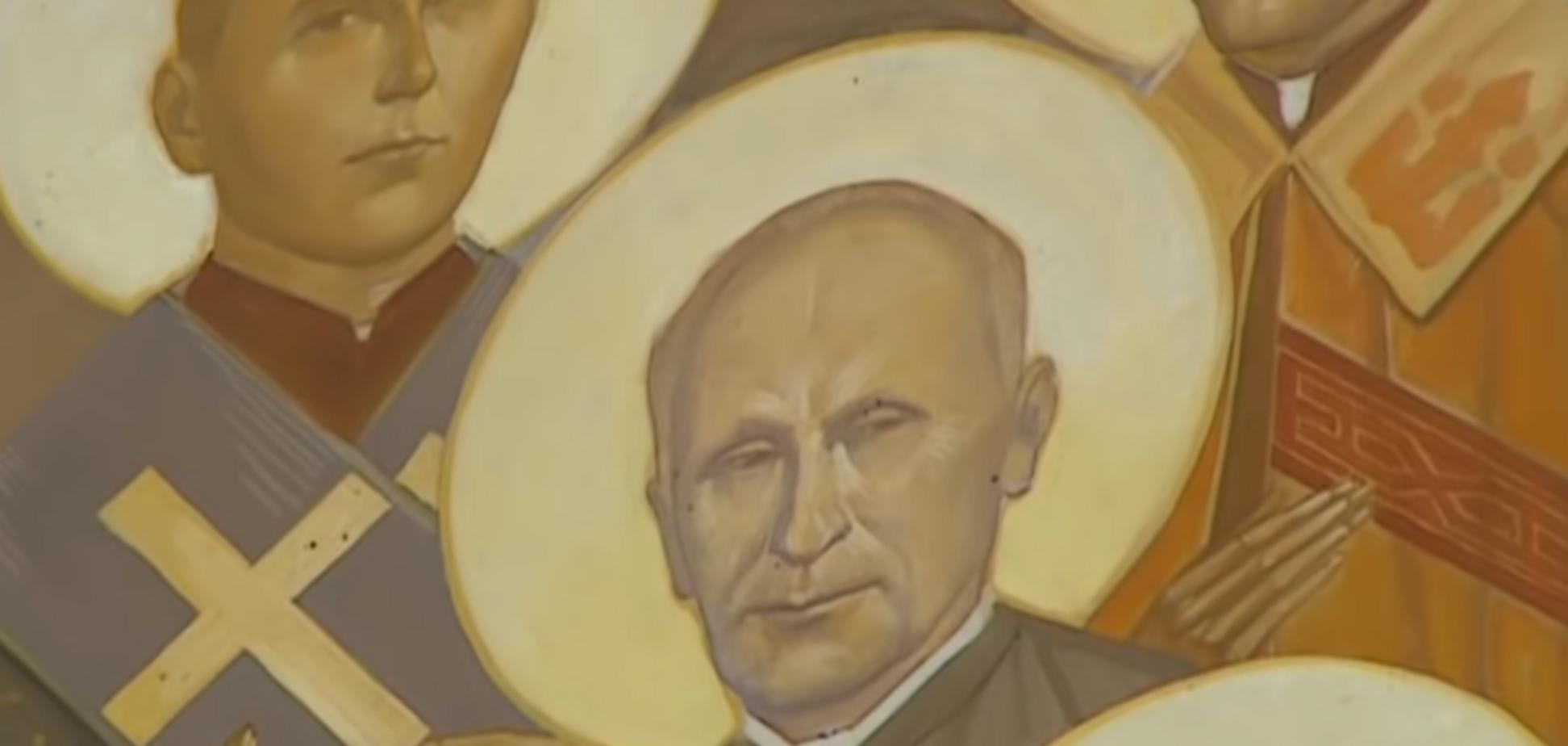 Путин-великомученик: храм на Львовщине вызвал скандал странной иконой