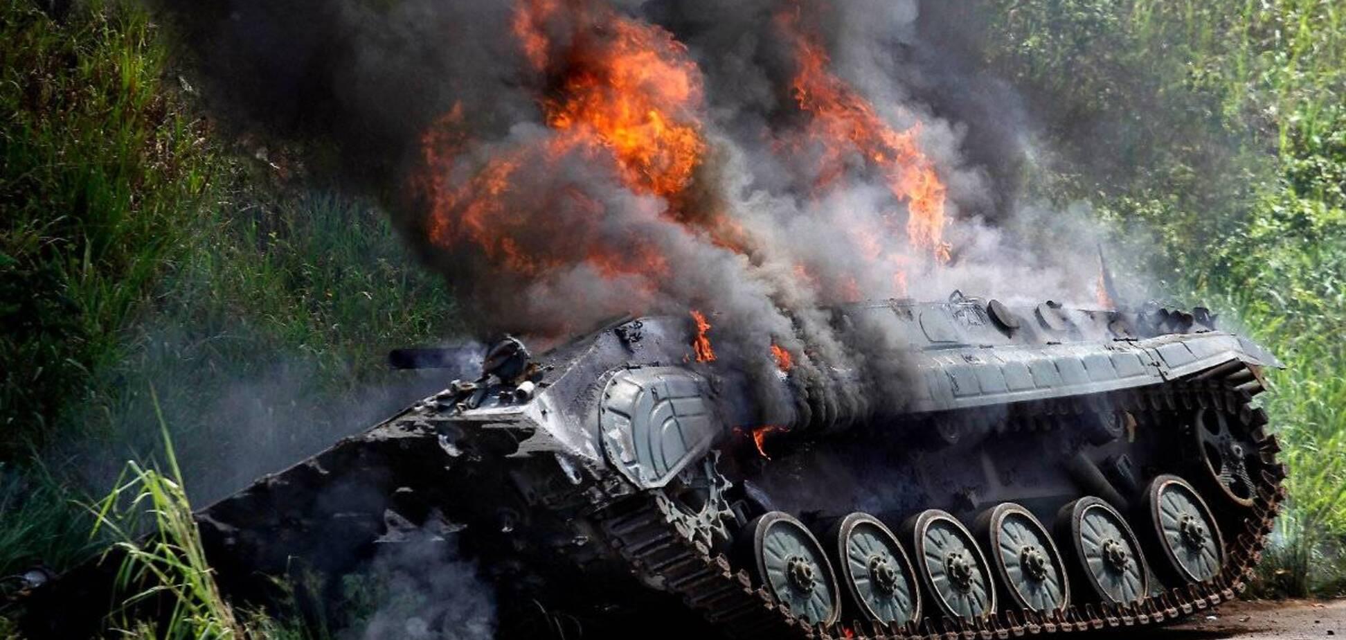 Бійці ОС знищили БМП путінських терористів: з'явилося відео
