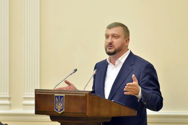 Министр юстиции Павел Петренко на заседании правительства