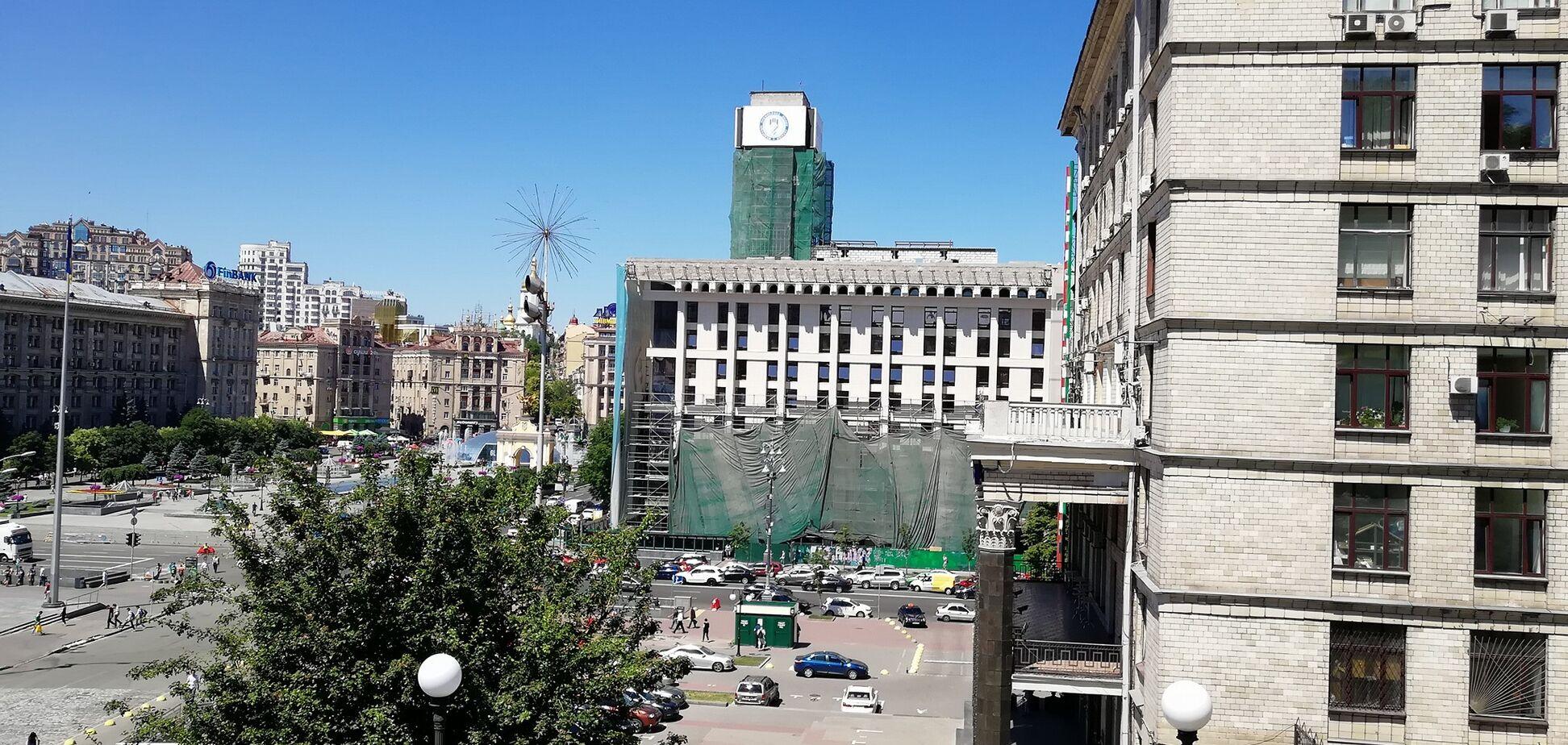Как выглядит новый фасад Дома профсоюзов в Киеве: опубликованы фото и видео