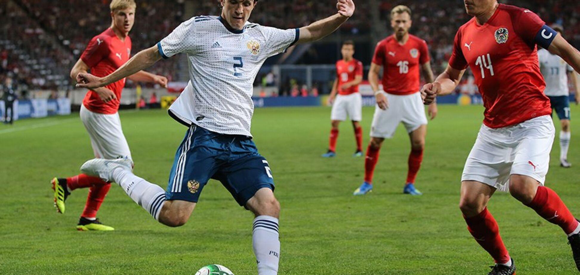 Сборная России по футболу опозорилась перед ЧМ-2018