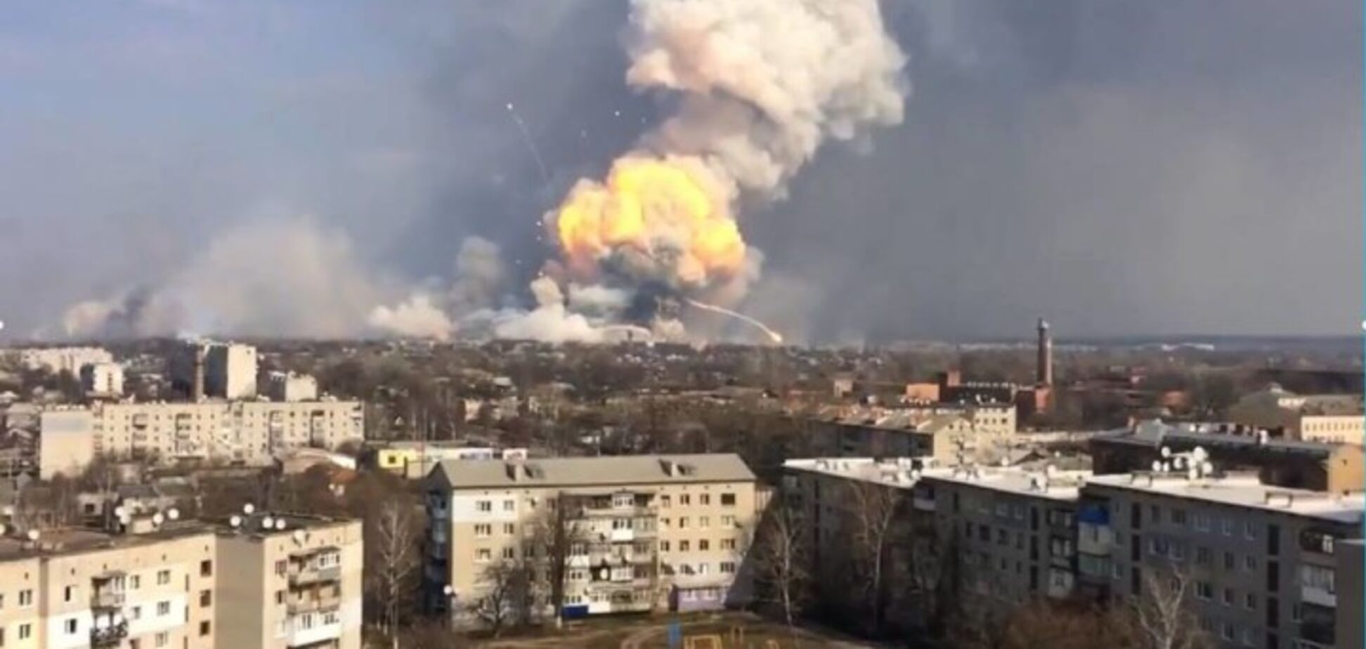 'Замішана Росія': названа причина вибухів на складі боєприпасів в Балаклії