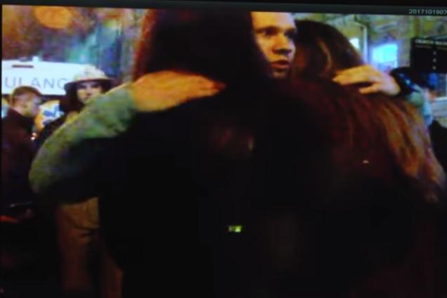 Появилось видео с Зайцевой в первые минуты после ДТП в Харькове