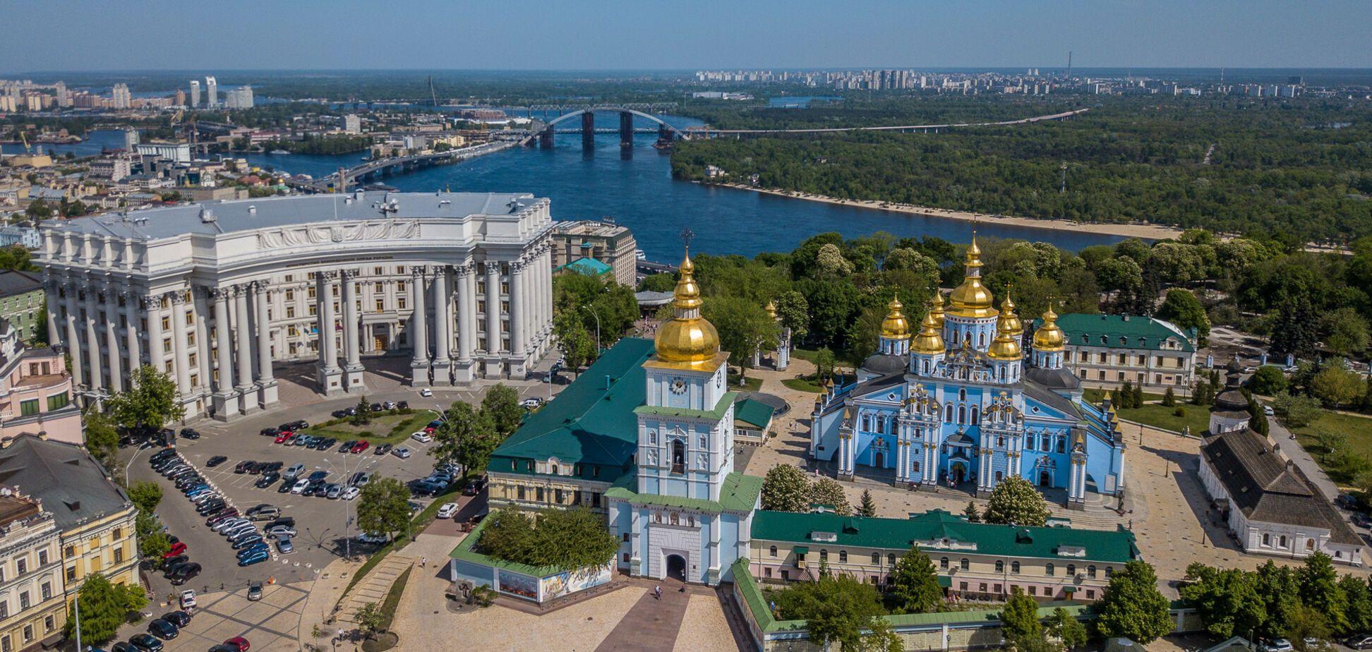 Київ з висоти пташиного польоту: опубліковані вражаючі фото