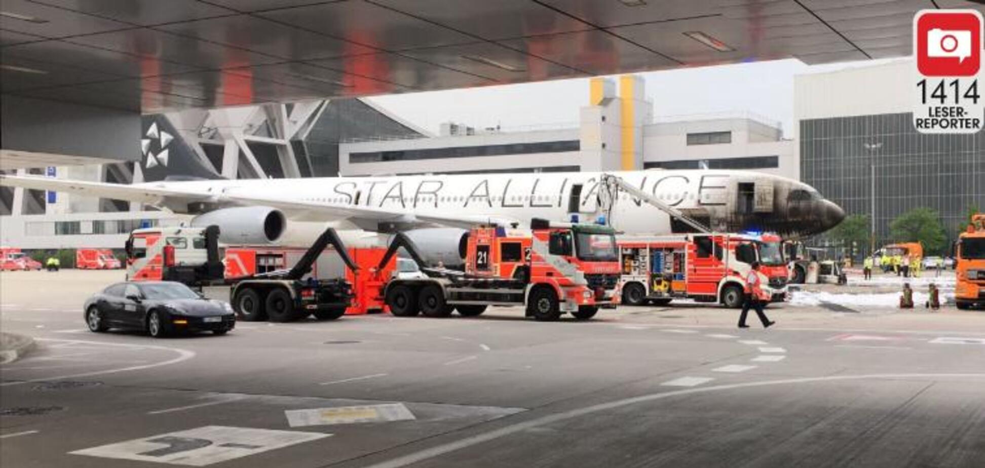 В аеропорту Франкфурта загорівся літак, є постраждалі: фоторепортаж з місця НП