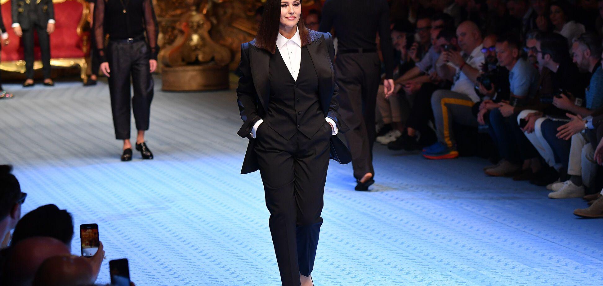 Впервые за 20 лет: Моника Беллуччи вышла на подиум показа Dolce & Gabbana