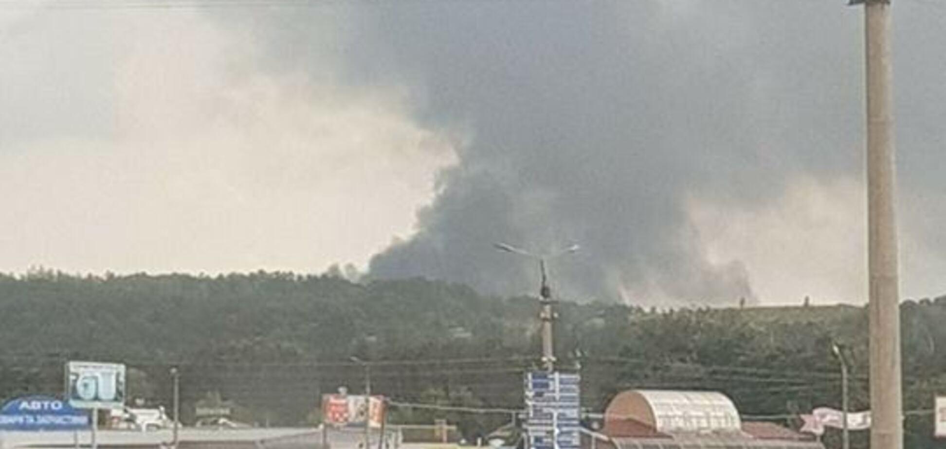 Под Киевом возник мощный пожар: опубликованы первые фото