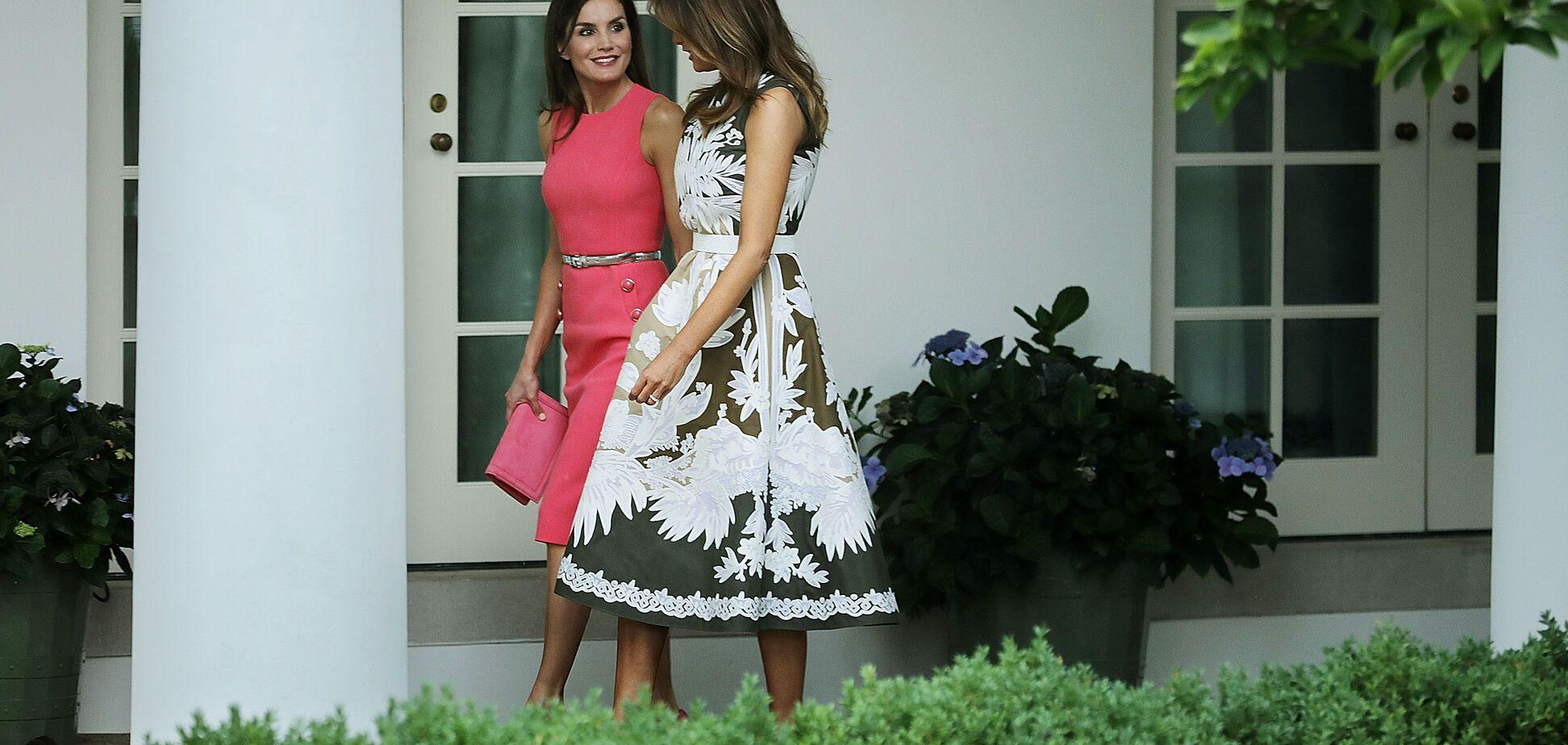 Модная битва: Мелания Трамп и королева Летиция встретились в Белом доме