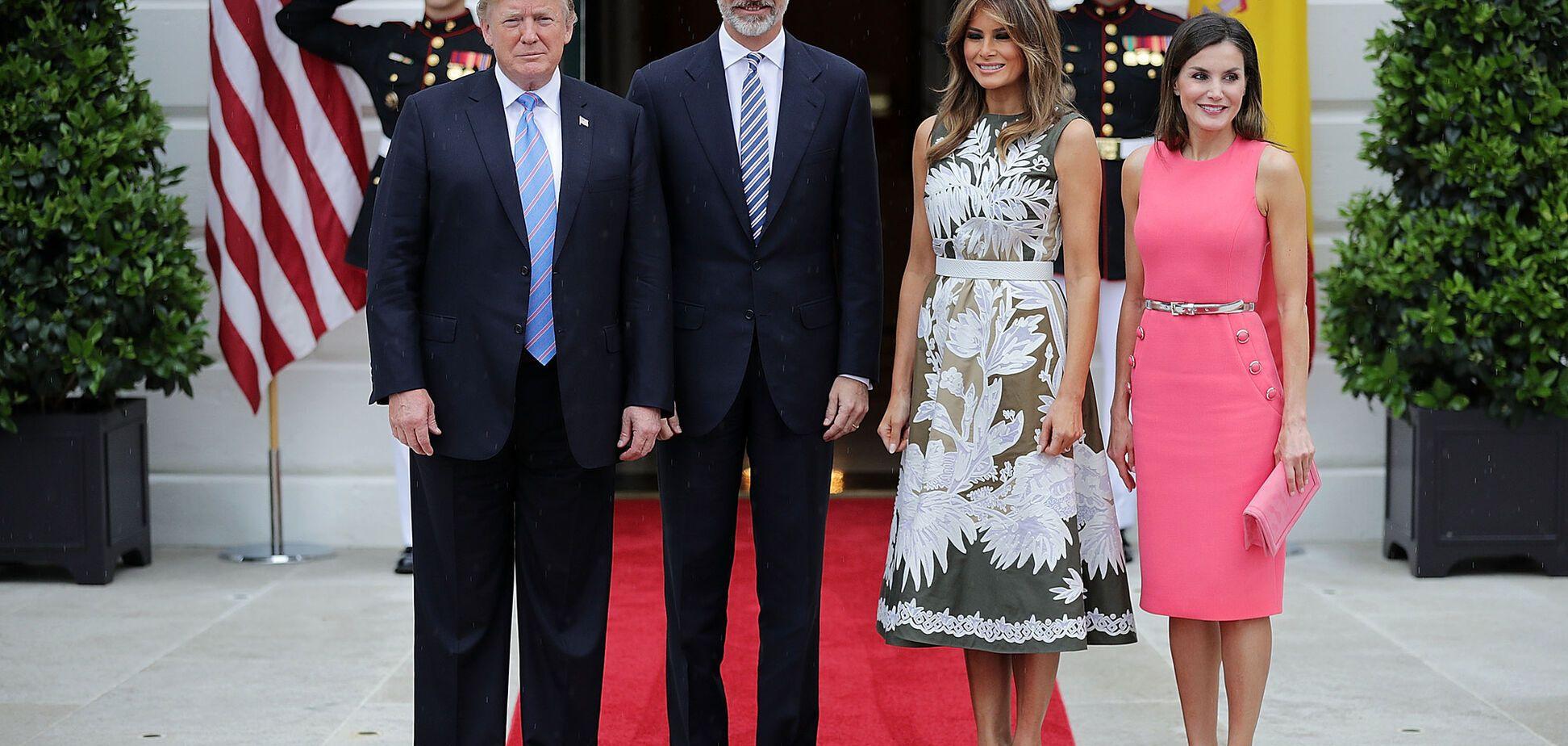 Мелания Трамп и королева Летиция носят одинаковые платья