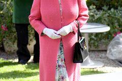 Королева Єлизавета II в яскравому вбранні затьмарила онучок на перегонах