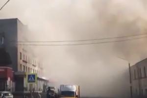 Валят клубы дыма: в России новое ЧП в торговом центре. Первое видео