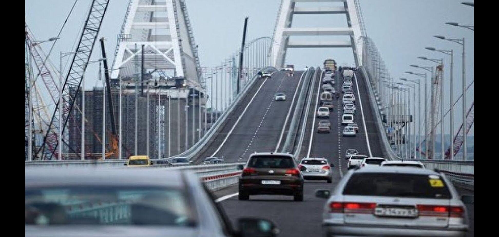 Екс-регіонал похвалився поїздкою по Кримському мосту: опубліковано відео