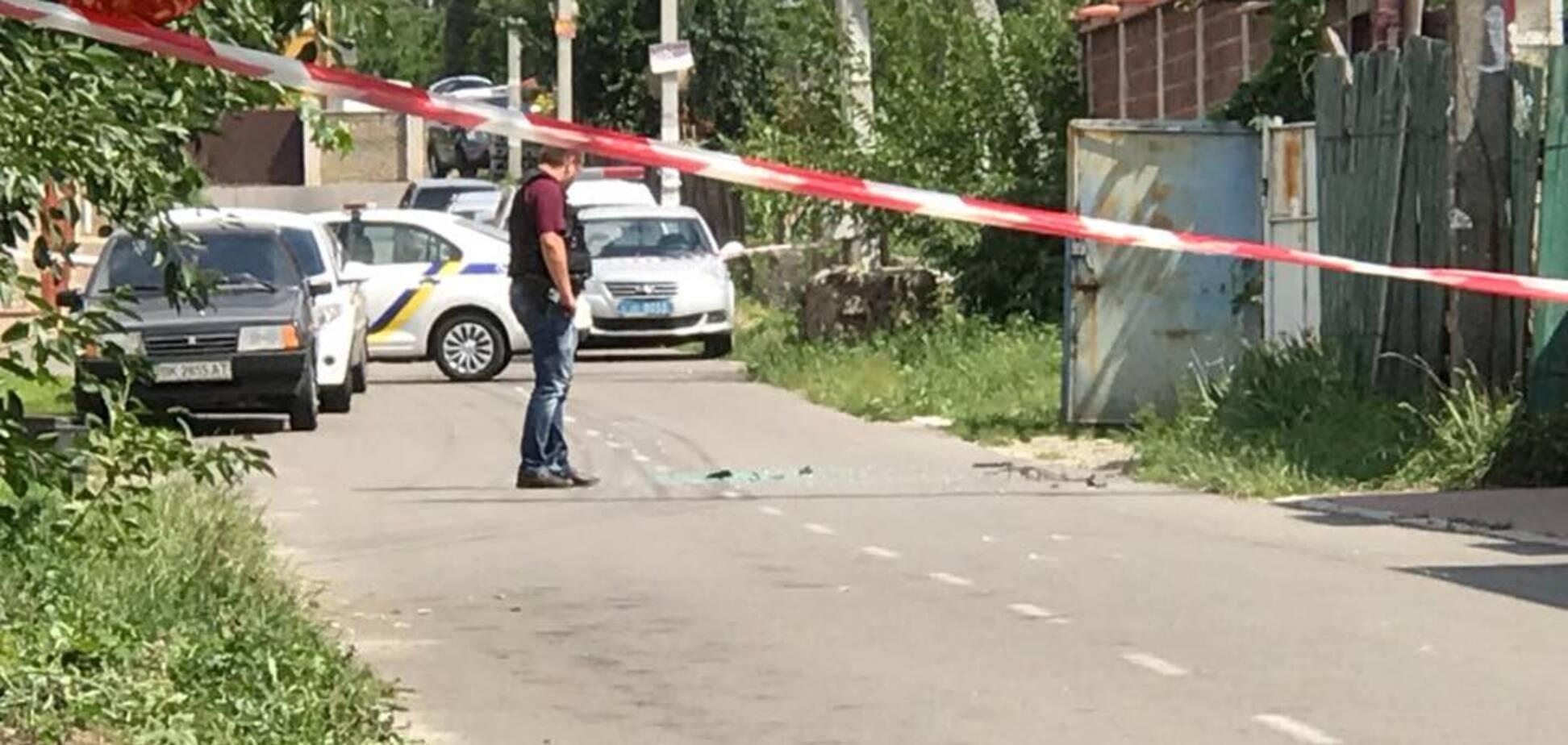 На Киевщине произошла стрельба: опубликовано первое видео с места ЧП